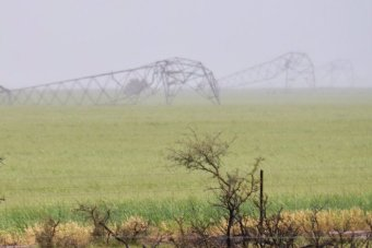 Downed transmission towers