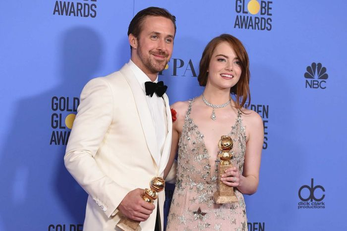 Image result for emma stone golden globes 2017