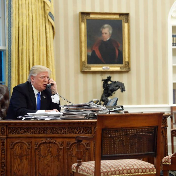 Image result for photos of the meeting between trump and turnbull
