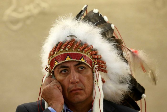 Dave Archambault takes a stand against the Dakota Access oil pipeline.