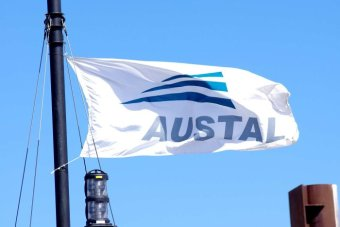 The flag of Austal shipbuilders