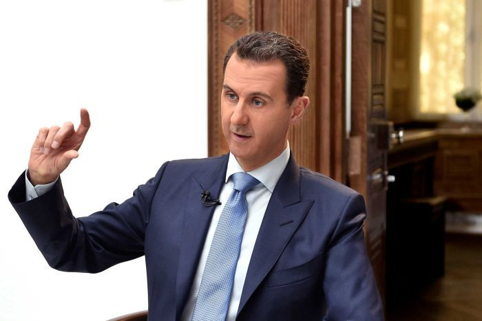 Syria's President Bashar al-Assad speaks during an interview with a Croatian newspaper.