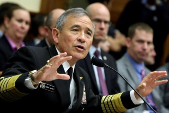 Admiral Harry Harris testifies before a House Armed Services Committee hearing.