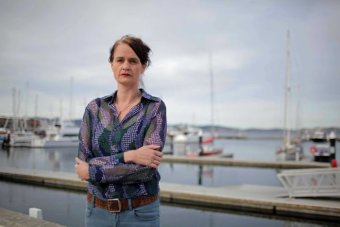 Environment Tasmania's Laura Kelly on the Hobart waterfront.
