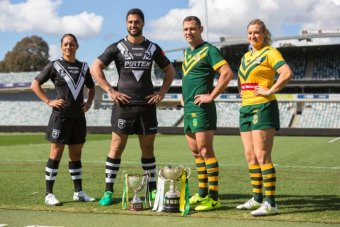 Rugby league captains from New Zealand and Australia in 2017