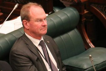 Martin Hamilton-Smith seated in State Parliament.