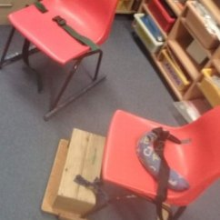 Rocking Chair For Autistic Child Office Yoga Video Abc 7 30 Report Mum Gobsmacked At School S Response To Two Chairs With Restraining Belts Thomas Maker North Was Strapped In The Classroom