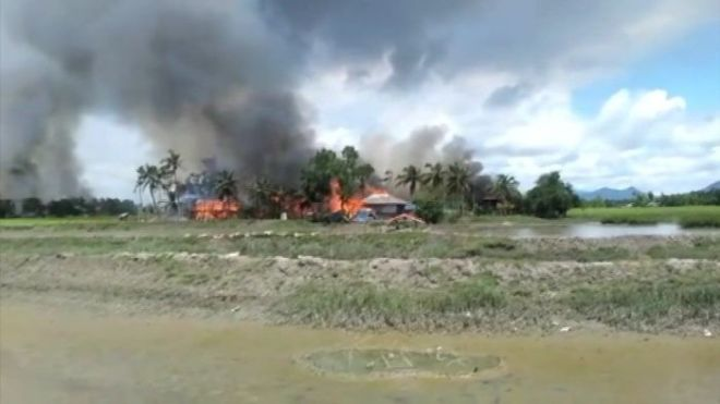 Footage shows bodies and burning in Myanmar's 'ethnic cleansing' of Rohingya Muslims