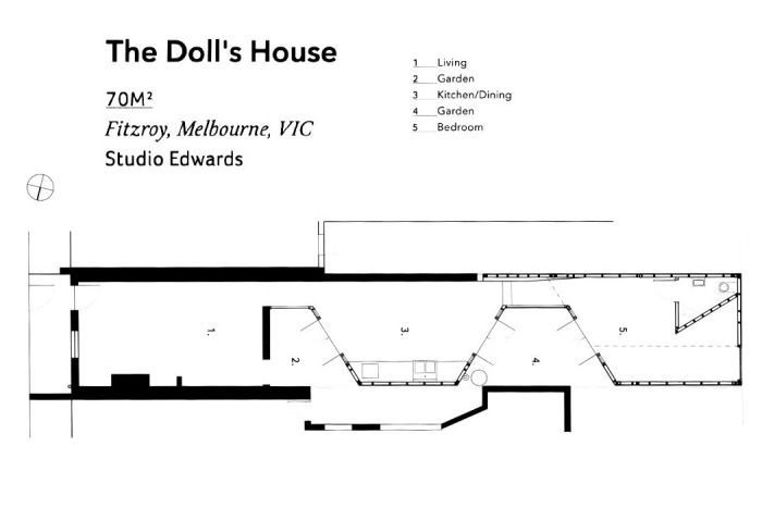 The floorplans for The Doll's House.