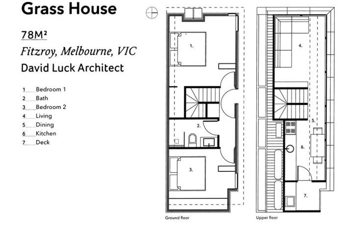 The floorplan for the Grass House.