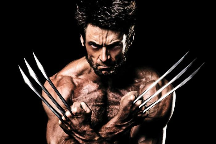 Hugh Jackman bearing his claws as Wolverine.