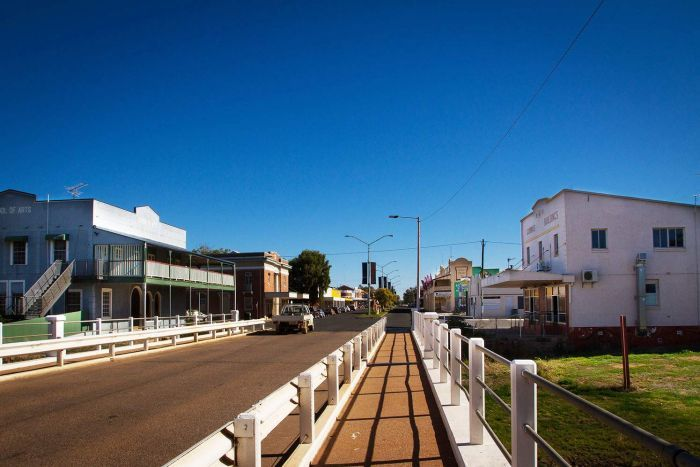 A street in the regional town of Charleville in south-west Queensland.