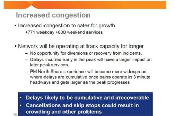 A screenshot of a page from a document about changes to the 2017 train timetable.