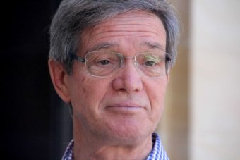 WA Opposition Leader Mike Nahan looks nonplussed. Close up on his face, outside Parliament House.