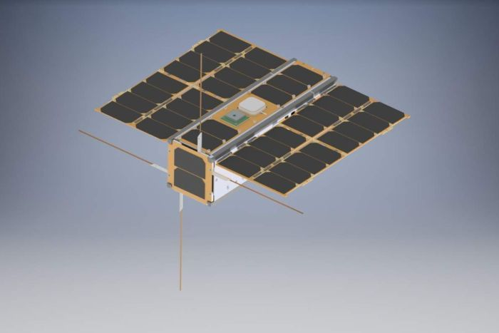 Depiction of a nanosatellite.