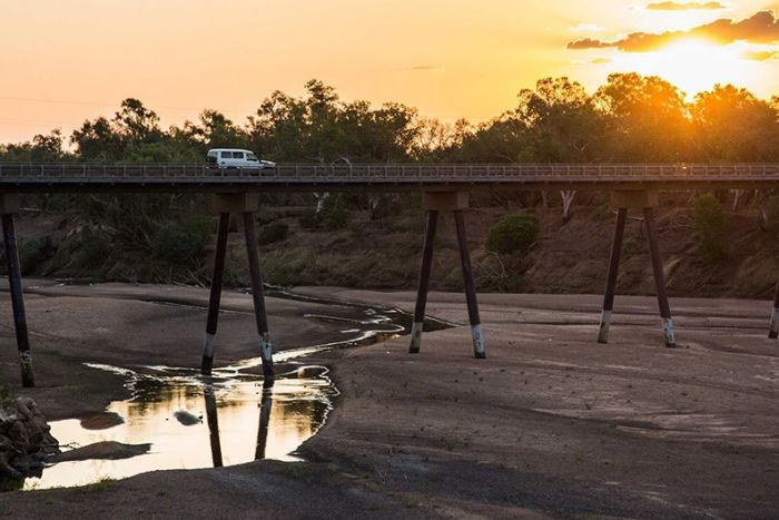 A photo of a bridge at Fitzroy Crossing