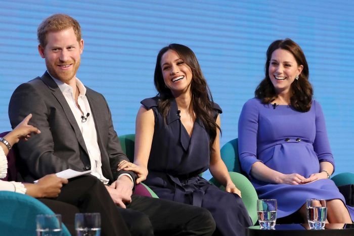 Royals appear on stage