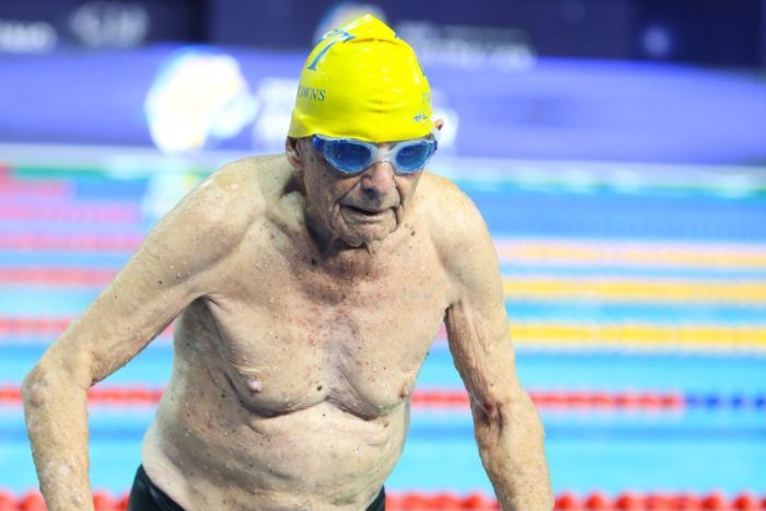 99 year old swimmer