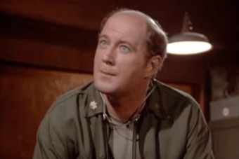 Actor David Ogden Stiers as the MASH character Major Charles Winchester