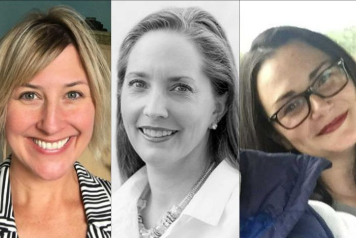 California shooting victims Christine Loeber, Jen Golick and Jennifer Gonzales.