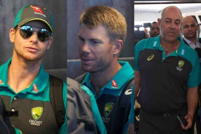 Composite of Steve Smith, David Warner and Darren Lehmann