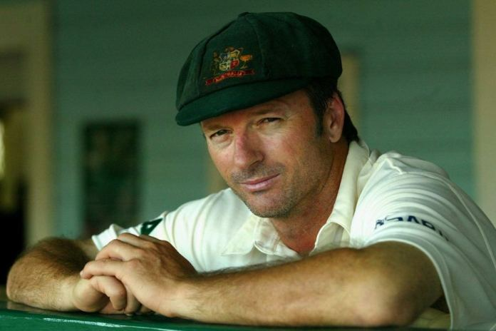 Portrait of former Test captain Steve Waugh
