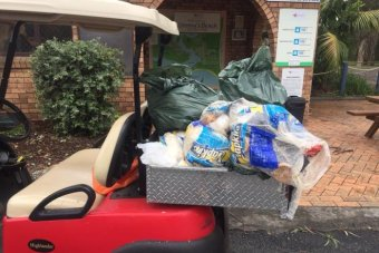 A cart full of rubbish