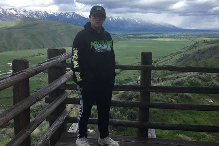 Kanye West fan Connor in Wyoming