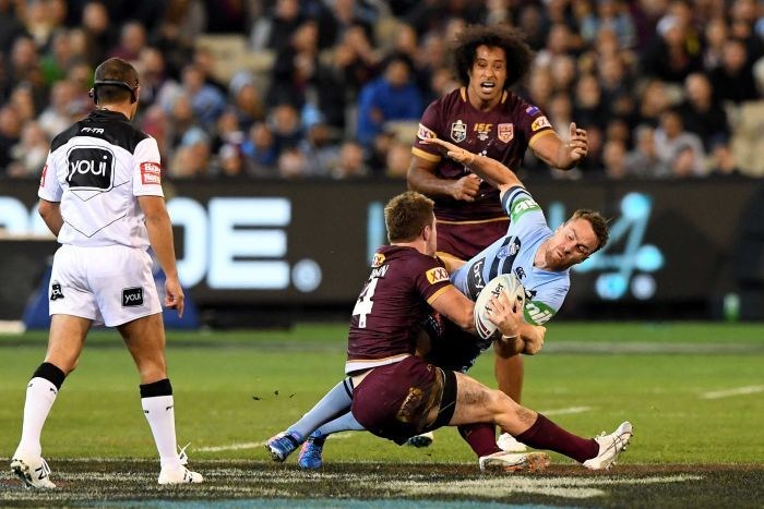 James Maloney is tackled