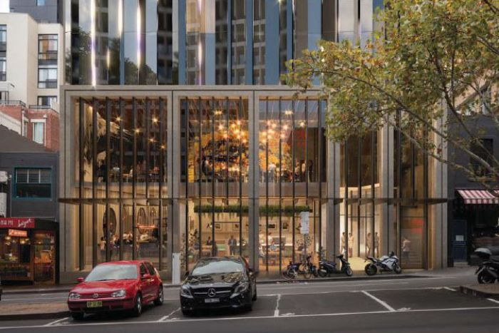 An artist's impression of the Tribe Hotel's proposed hotel in Russell Street, Melbourne.