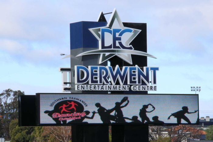 Derwent Entertainment Centre sign