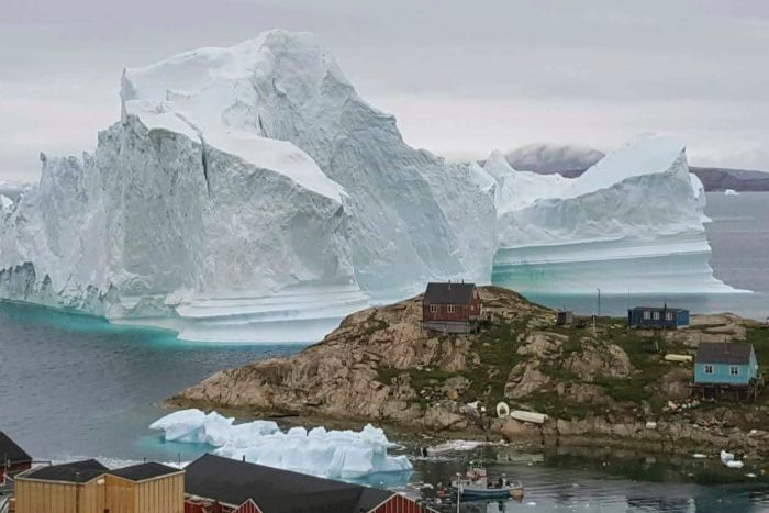 A view of an Iceberg, near the village Innarsuit.