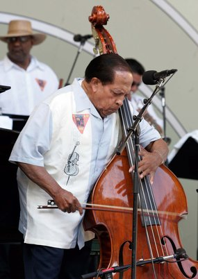 Even at 88, Cuban bassist Israel Cachao Lopez is still busy. (File photo)
