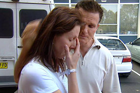Jana Horska, pictured with husband Mark Dreyer, was left to miscarry in a toilet at Sydney's Royal North Shore Hospital.