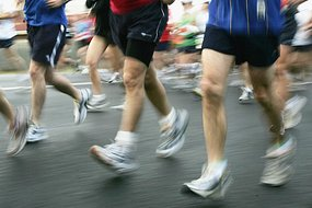 Competitors make their way along the Nepean Highway during the Melbourne Marathon [File photo].
