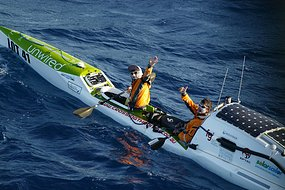 Australian kayakers James Castission and Justin Jones