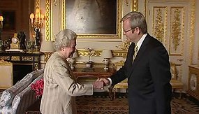 The Queen greets Prime Minister Kevin Rudd at Windsor Castle