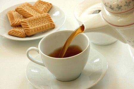 Image of tea and biscuits