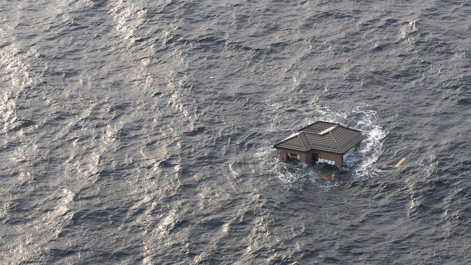 Home floats in the sea