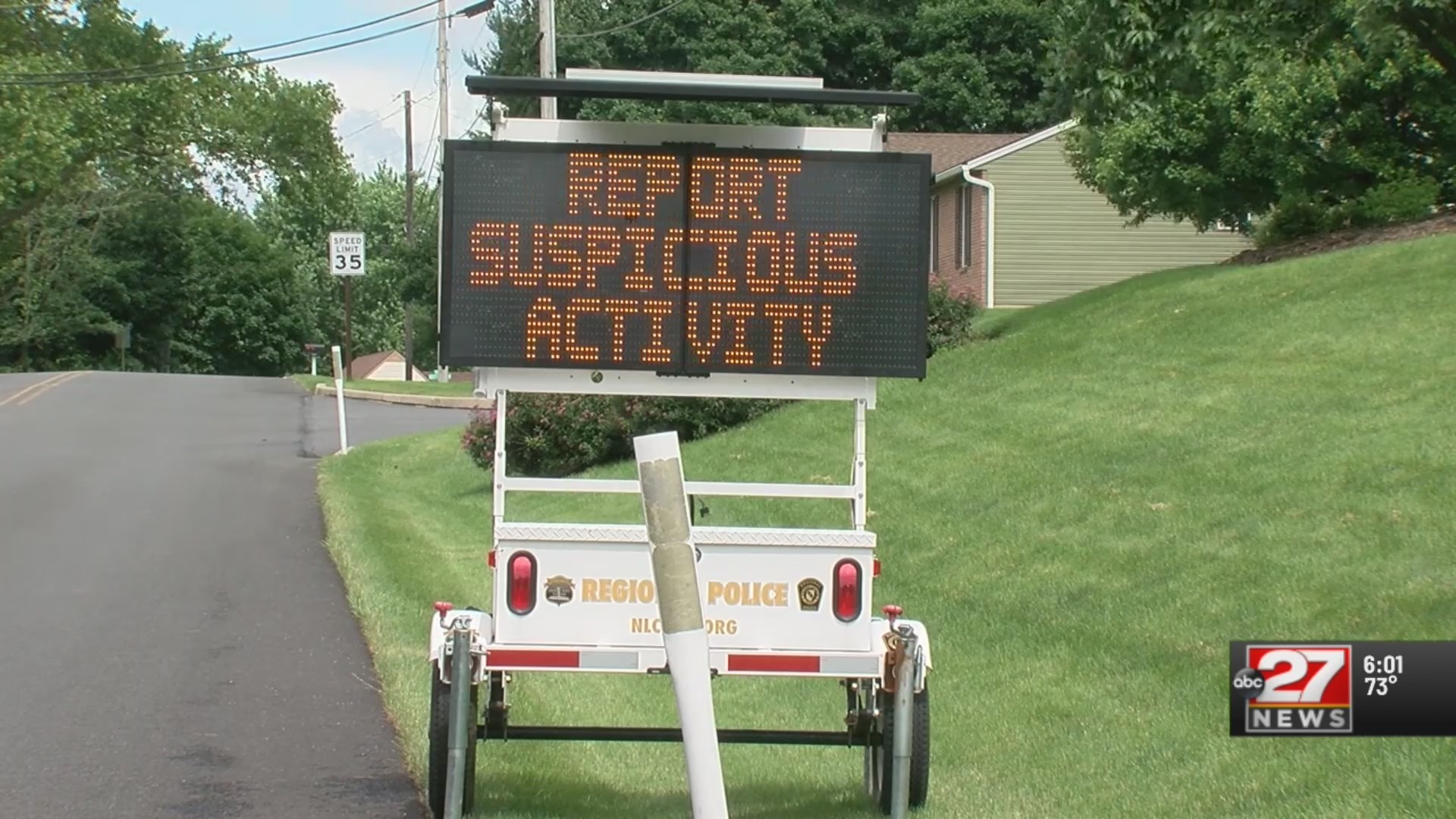 Police install warning sings after break-ins, vandalism
