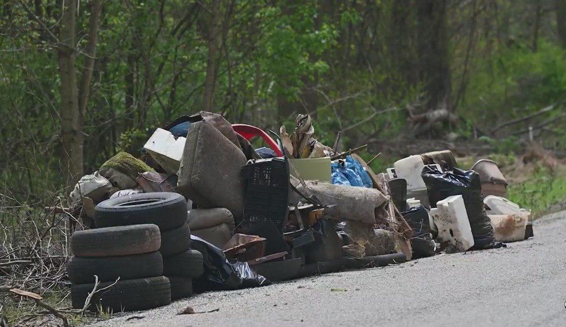 Illegal Dumping Dump Road