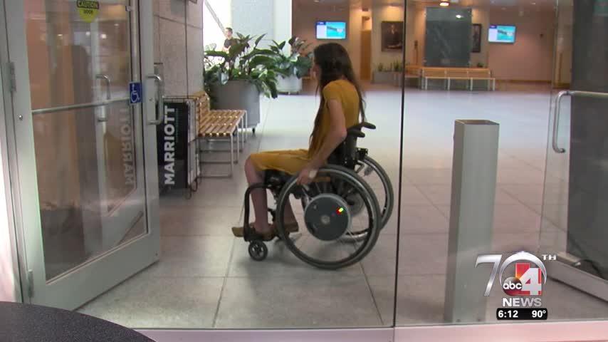 Hands-free door tech for people in wheelchairs_54688710