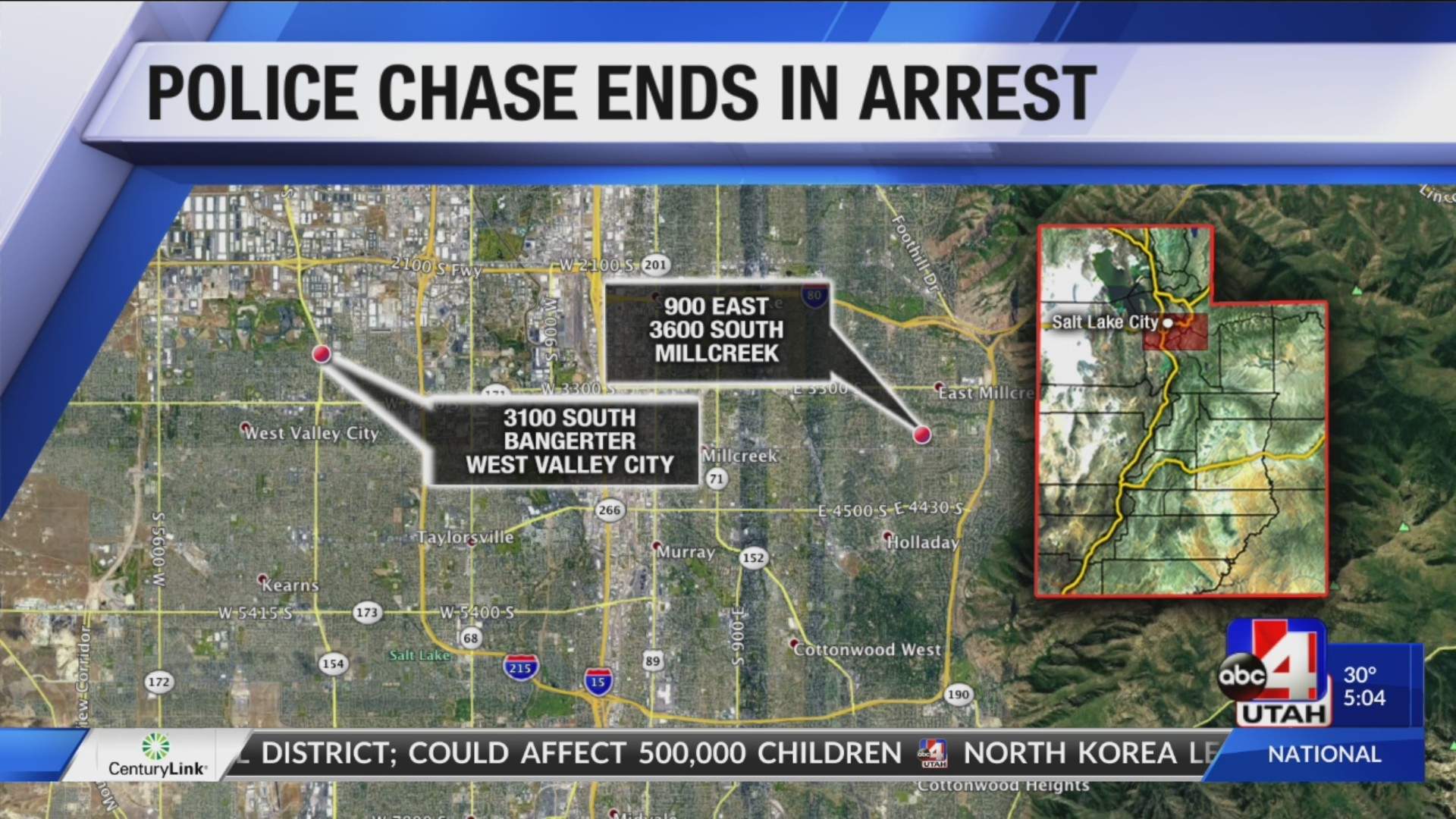 POLICE CHASE ENDS IN ARREST