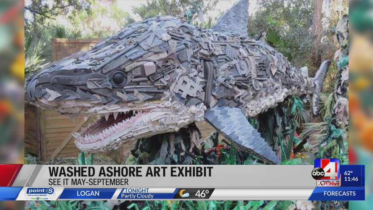 Washed Ashore Exhibit at Hogle Zoo  - Marine animals made out of garbage found in the ocean