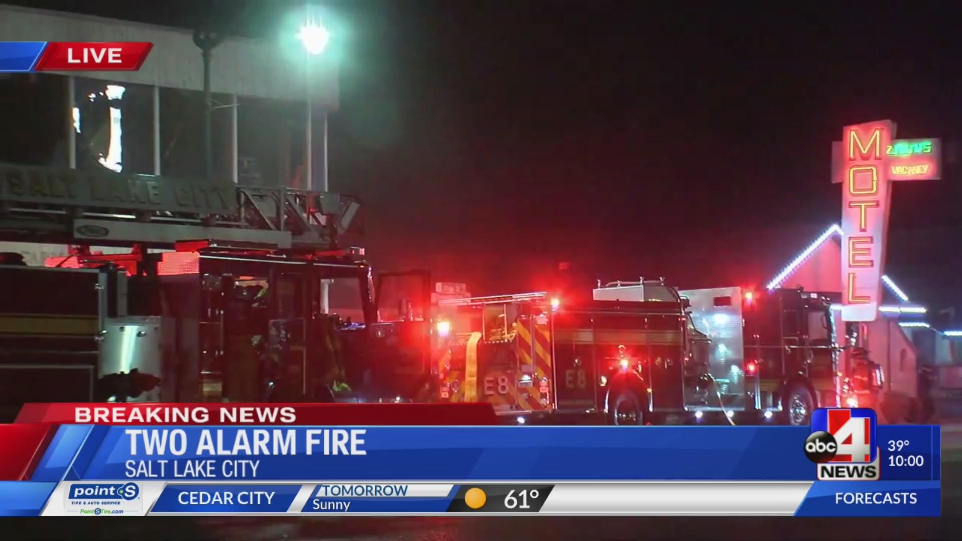 SLCFD respond to 2-alarm fire