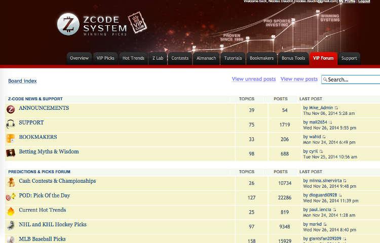 Capture d'écran du forum de ZCode