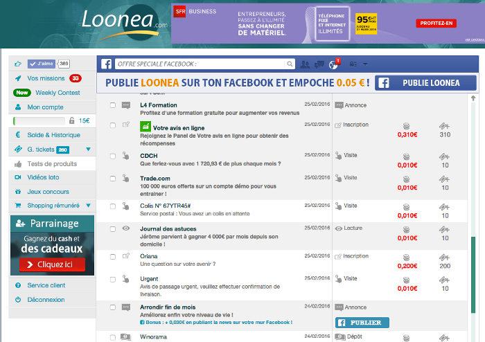 LooNea Mails remuneres offres remuneres