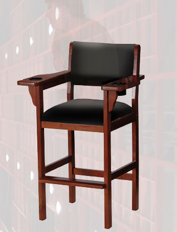 BILLIARD  POOL SPECTATOR CHAIR SOLID WOOD  3 FINISHES