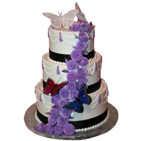 1289 3 Tier Butterfly Wedding Cake Abc Cake Shop Bakery
