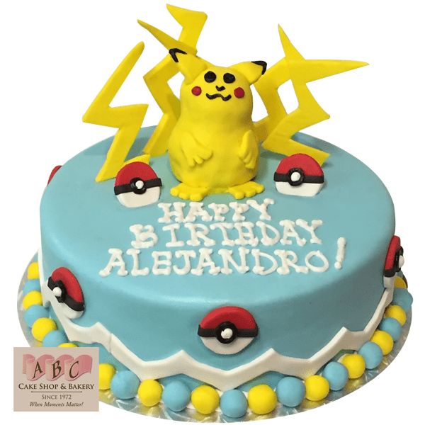 1724 Pokemon Pikachu Birthday Cake Abc Cake Shop Amp Bakery